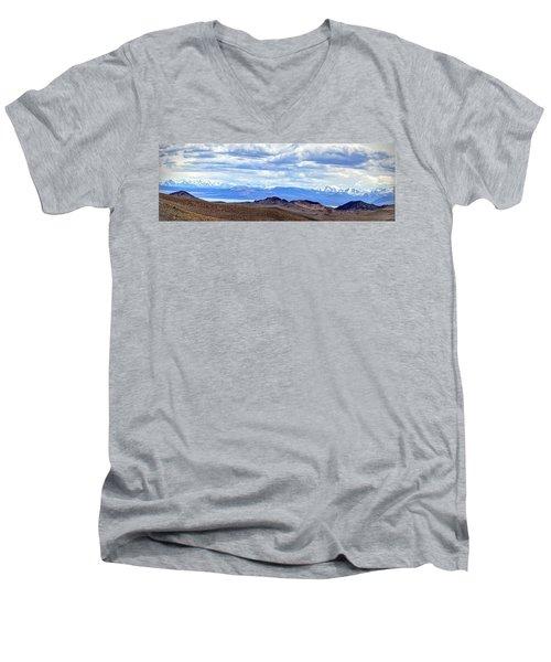 Mono Lake From Bodie Hills Men's V-Neck T-Shirt