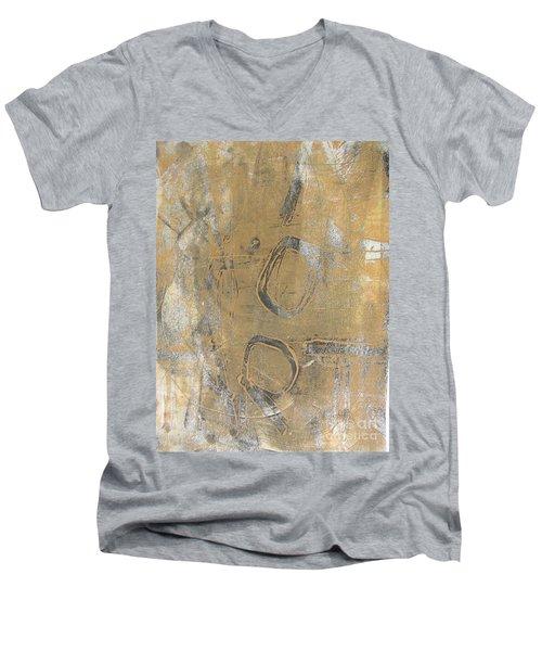 Mono Print 003 - I Am Not Art Men's V-Neck T-Shirt by Mudiama Kammoh
