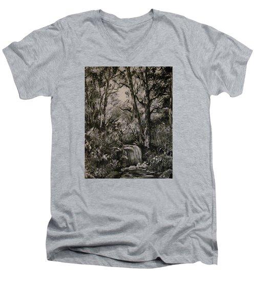 Monochrome Landscape 2 Men's V-Neck T-Shirt by Megan Walsh