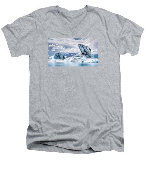 Monolith Men's V-Neck T-Shirt by Brad Grove
