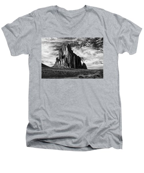 Monolith On The Plateau Men's V-Neck T-Shirt by Jon Glaser