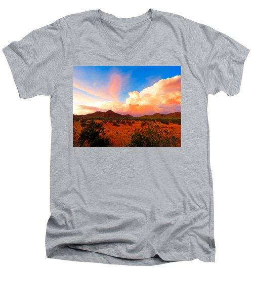 Monsoon Storm Sunset Men's V-Neck T-Shirt