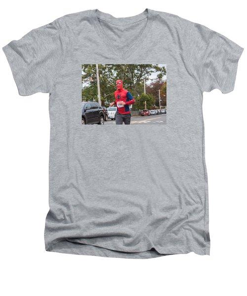Monster Dash 43 Men's V-Neck T-Shirt by Brian MacLean