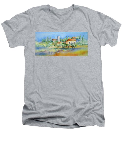 Montacatini Alto Men's V-Neck T-Shirt by Trudi Doyle