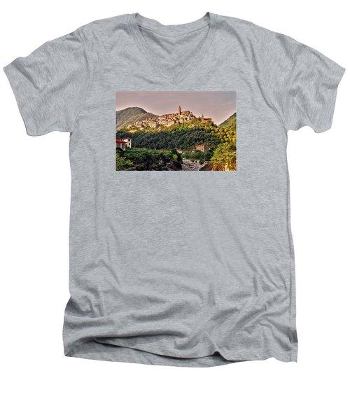 Montalto Ligure - Italy Men's V-Neck T-Shirt by Juergen Weiss