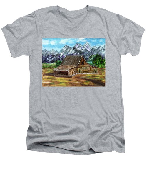 Montana Barn Men's V-Neck T-Shirt