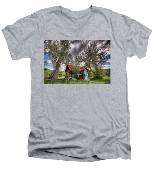 Montana Cabin Men's V-Neck T-Shirt