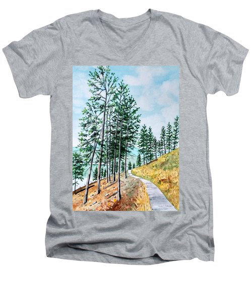 Montana Lake Como Trail Men's V-Neck T-Shirt