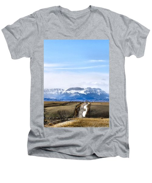 Montana Scenery One Men's V-Neck T-Shirt