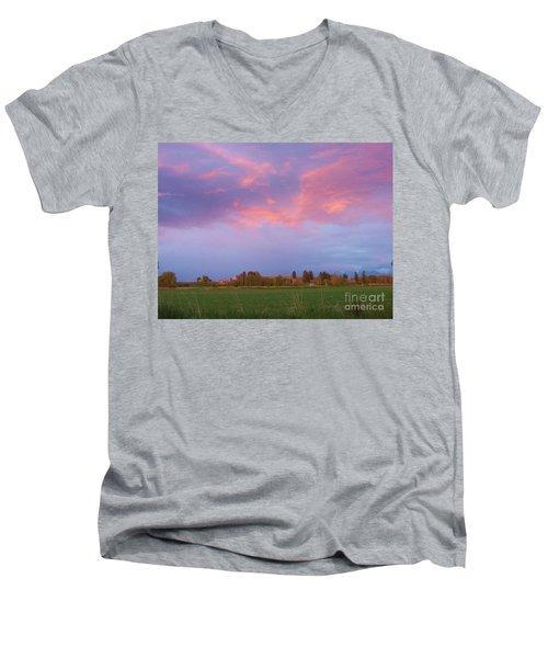 Montana Sunset 2 Men's V-Neck T-Shirt