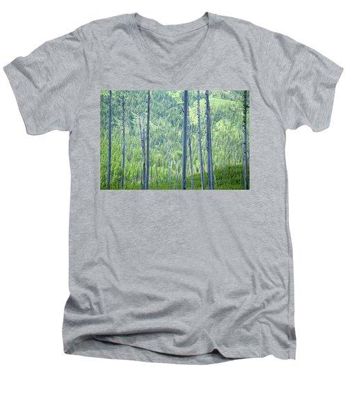 Montana Trees Men's V-Neck T-Shirt