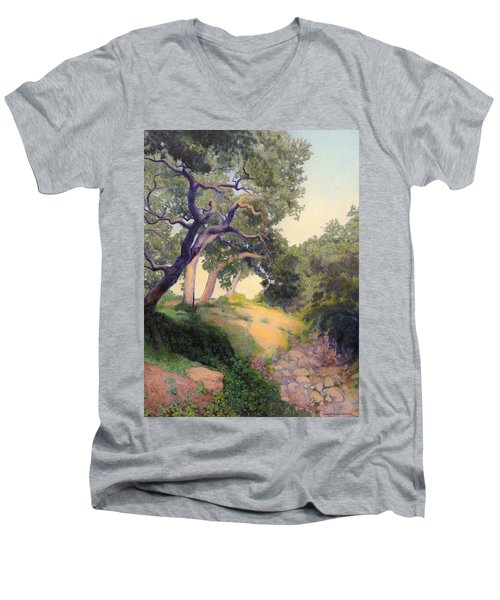 Montecito Dry River Oaks Men's V-Neck T-Shirt