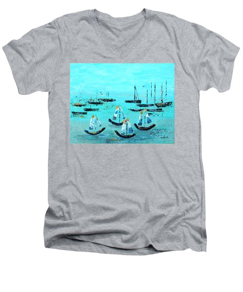 Monterey Boats Men's V-Neck T-Shirt