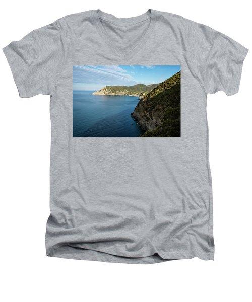 Monterosso And The Cinque Terre Coast Men's V-Neck T-Shirt