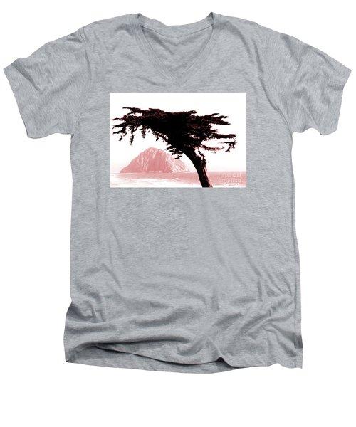 The Beach At Morro Bay Men's V-Neck T-Shirt