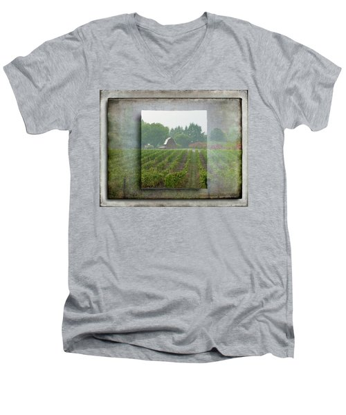 Montinore Winery Men's V-Neck T-Shirt