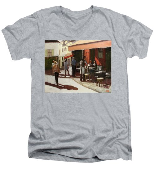 Montmarte Cafe Men's V-Neck T-Shirt