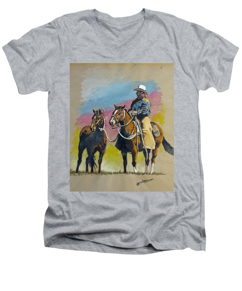 Monty Roberts Men's V-Neck T-Shirt