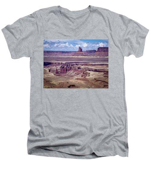 Monument Basin, Canyonlands Men's V-Neck T-Shirt