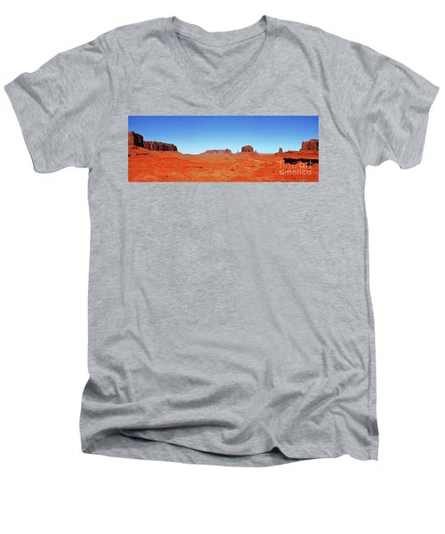 Men's V-Neck T-Shirt featuring the photograph Monument Valley Two by Paul Mashburn