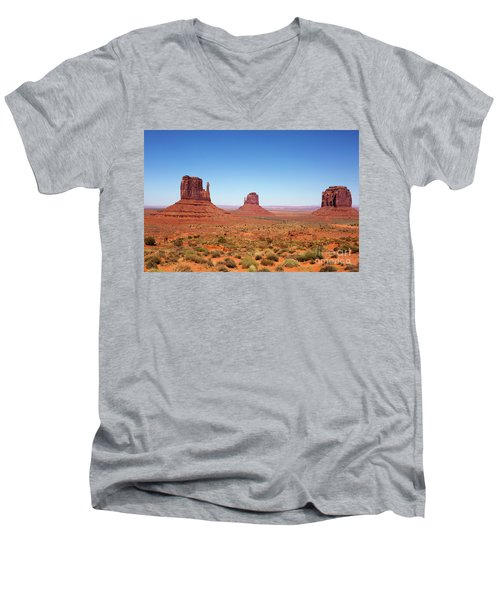 Monument Valley Utah The Mittens Men's V-Neck T-Shirt