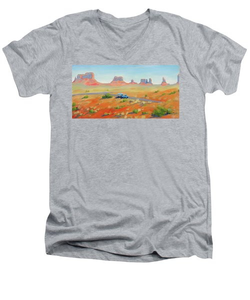 Monument Valley Vintage Men's V-Neck T-Shirt