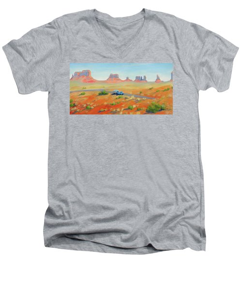 Monument Valley Vintage Men's V-Neck T-Shirt