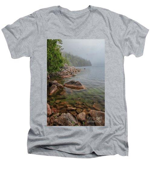 Moody And Magical Jordan Pond Men's V-Neck T-Shirt