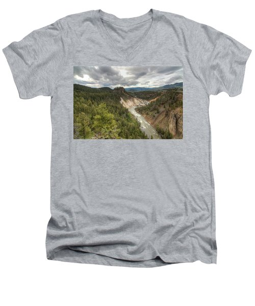 Moody Yellowstone Men's V-Neck T-Shirt