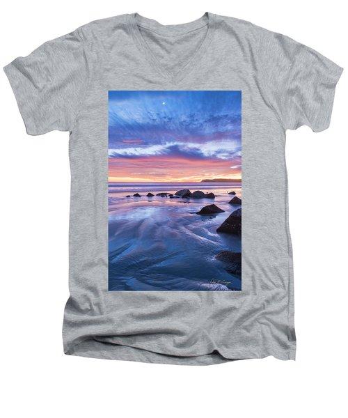Moon Above Men's V-Neck T-Shirt
