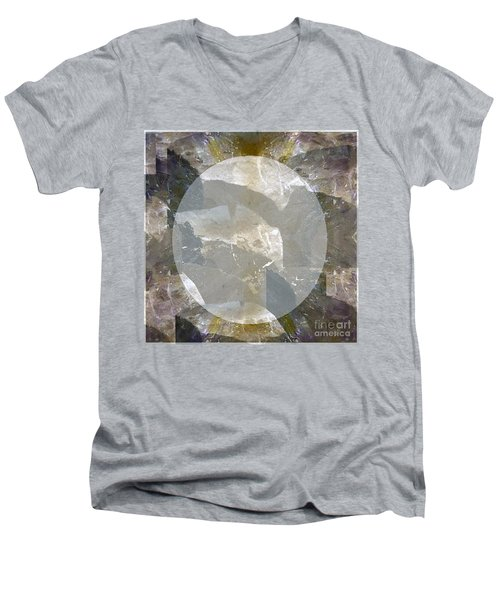 Moon Art On Stone Digital Graphics By Navin Joshi By Print Posters Greeting Cards Pillows Duvet Cove Men's V-Neck T-Shirt