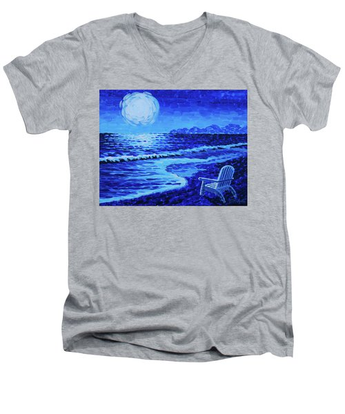 Moon Beach Men's V-Neck T-Shirt