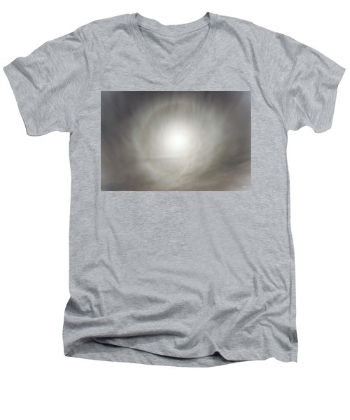 Men's V-Neck T-Shirt featuring the photograph Moon Dog by Leland D Howard
