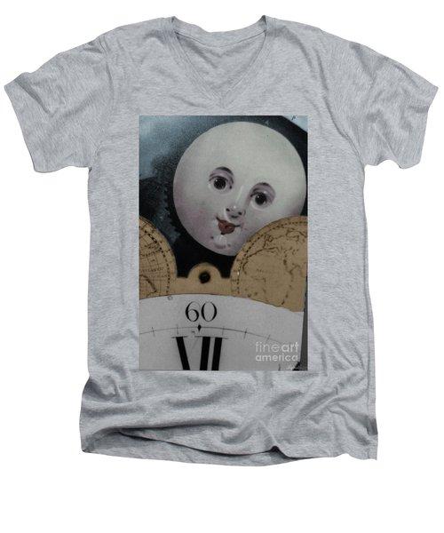 Moon Face Men's V-Neck T-Shirt