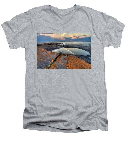 Moon Flower  Men's V-Neck T-Shirt