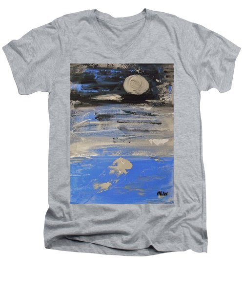 Moon In October Sky Men's V-Neck T-Shirt