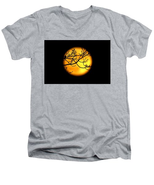 Moon In The Trees Men's V-Neck T-Shirt