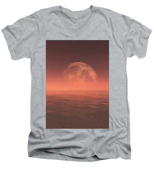 Moon Men's V-Neck T-Shirt