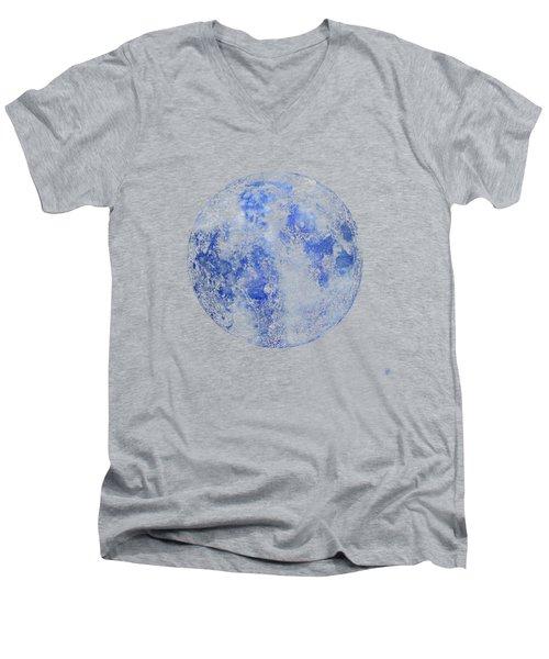 Moon Map Men's V-Neck T-Shirt