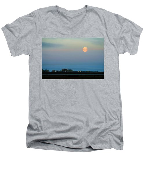 Moon Over Flow Station 1 Men's V-Neck T-Shirt
