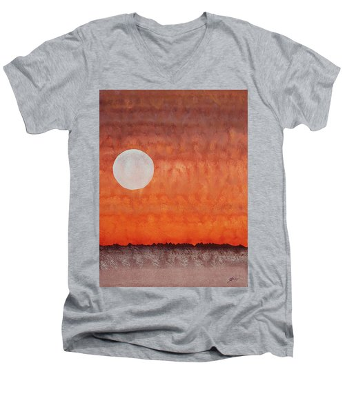 Moon Over Mojave Men's V-Neck T-Shirt by Sol Luckman