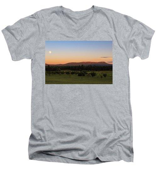 Moon Over Mount Tom Men's V-Neck T-Shirt