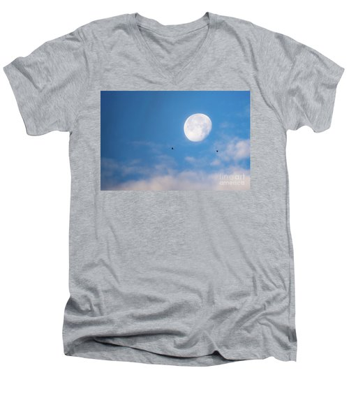 Moon Set Men's V-Neck T-Shirt