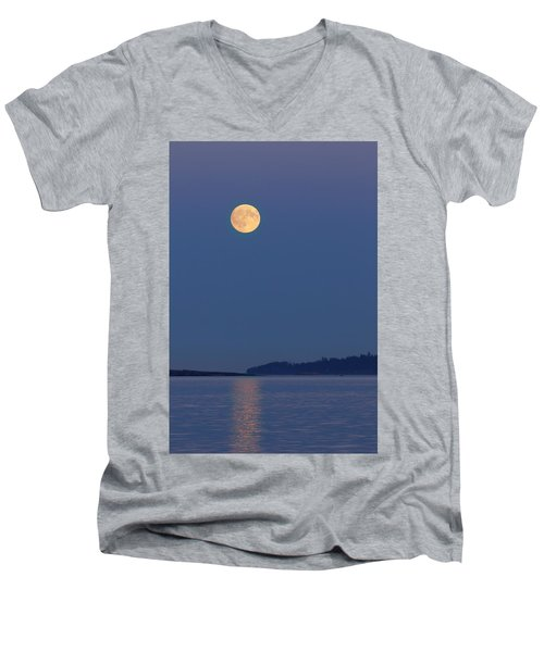 Moonlight - 365-224 Men's V-Neck T-Shirt by Inge Riis McDonald
