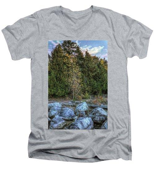 Moonlight Bay Bedrock Beach Men's V-Neck T-Shirt