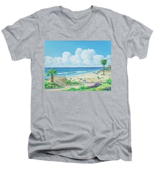 Moonlight Beach Men's V-Neck T-Shirt