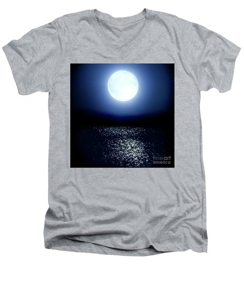 Moonlight Men's V-Neck T-Shirt by Tatsuya Atarashi