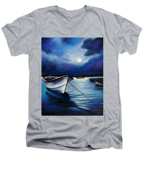 Moonlit Men's V-Neck T-Shirt