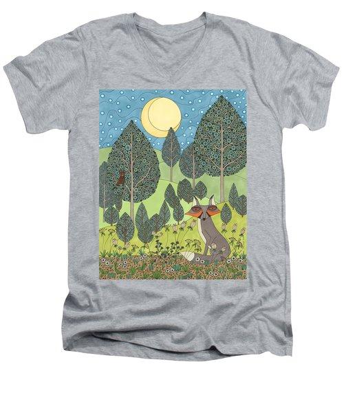 Moonlit Meadow Men's V-Neck T-Shirt