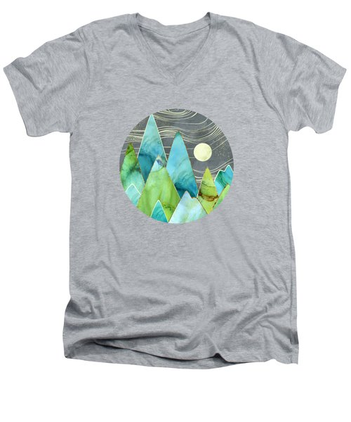 Moonlit Mountains Men's V-Neck T-Shirt
